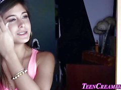 Braces teen creampied