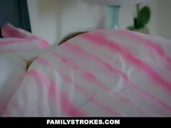 familystrokes - scared stepdaughter gets fucked while wife sleeps