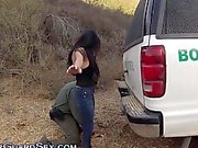 Latina slut blows outdoor