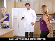 FamilyStrokes - Hot Sister And Mom Tricked And Fucked By Ste