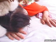 Adorable and cute pigtail Asian teen getting hammered