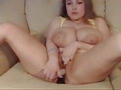 Pregnant Big Titted Webcammer Masterbates