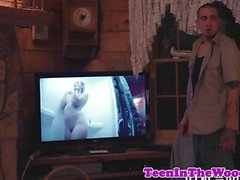 Teen babe roughfucked by a stranger