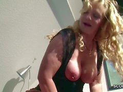 German Huge Tit MILF Seduce to Fuck by Step-Son