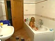 Blonde and horny italian mother plays with her boy