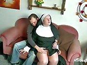German Young Boy seduce Granny Nun to Fuck
