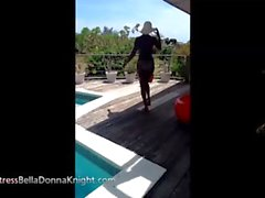 Mistress BellaDonna Knight - Dominant Ebony Mistress Pool Teaser