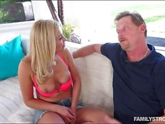 Kinky blonde teen pounded by her stepdad