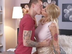 MOM Tattooed and horny Hungarian Milf neighbour fucks younger toy boy