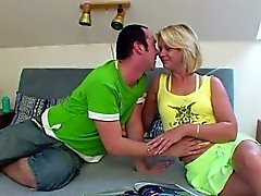 German Mom get fucked by young boy when cuckold not home
