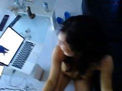 Webcam Brunette Toying Her Sweet Ass