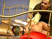 Exotic girl gets tied up and fucked rough