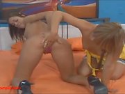 blonds toying each others pussy and assholes