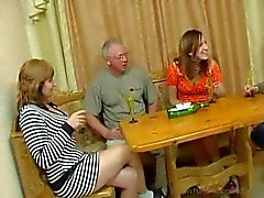 Drunken family has a hot foursome