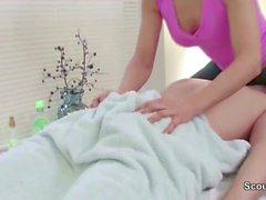 Stranger Seduce Masseuse to Fuck in Massage Parlour