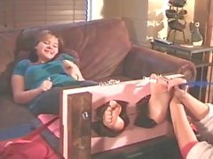 chuby ashley tickled nylons and bare soles