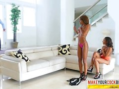 Filthy Step-Mom Chanell Heart And Lacey London Ebony In Threesome