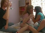 Two Russian girls fucked with a friend