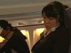 Young Woman groped and fucked in a business airliner