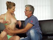 DADDY4K. Relaxed chick is in mood for encounter with handsome old dad