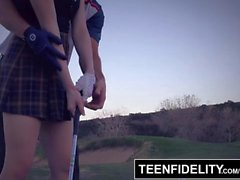 TEENFIDELITY Aria Alexander Pays for Golf Lessons With Teen Pussy