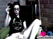 Emo teen girl fingers her pussy realteenscam