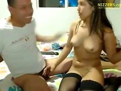 Amateur british teen in stockings