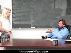 InnocentHigh - Hot Schoolgirl Fucked By Her Prof