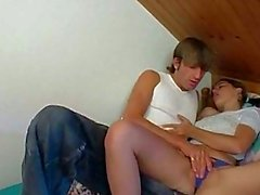 Elder brother with big cock fucks his teen sister