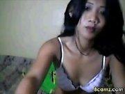 Lovely Taiwan girl has fun on webcam fingering her pussy