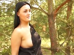 Elegant teacher with pierced nipples got it hard outdoor