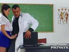 private - Trainee Nurse Cassie Fire Rides Her Teacher