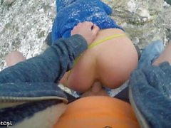 Lost hikers have rough anal sex to stay warm in snow - 2 orgasms 1 cumshot
