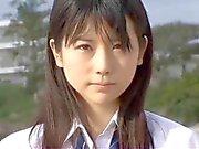 softcore asian schoolgirl panty upskirt tease