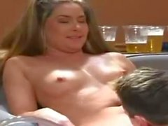 Drunk sluts get fucked in a frat house