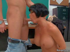 Professor Shay Fox seducing young Seth Gamble
