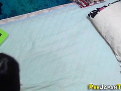 Kinky teen pees herself