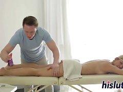 Luna gets nailed after a massage