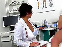 Plumper huge breasts wife Eva old young with cum on tits