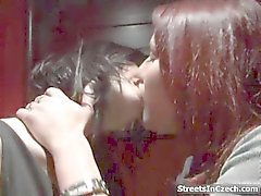 Kinky dude with cam gives money to these sexy lesbians