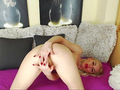 Pretty Teen Finger Her Ass and Pussy