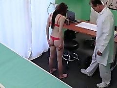 Teen beauty fucked in hospital office