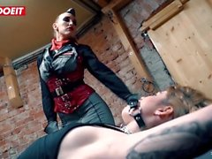 Hardcore Bondage and Feet Worship in German Prison - #LETSDOEIT