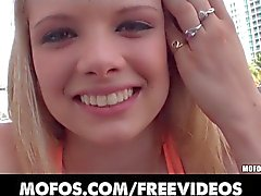 Busty blonde teen Stella Banxxx is picked up in public