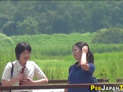 Japanese teens gush piss