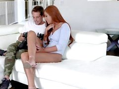 GingerPatch - Hot Ginger Model Lets Photographer Fuck