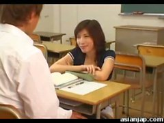 Japanese teacher fucks her student