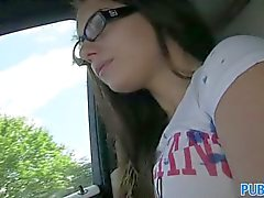 PublicAgent - Jenny college teen in glasses