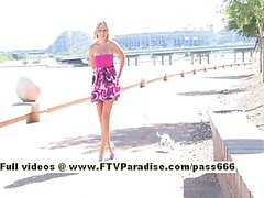 Shannon tender blonde walking with her dog and masturbating in public
