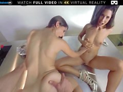 BaDoink VR Threesome Sex With Alexa Tomas And Jimena Lago VR Porn